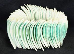 schelp armband groen